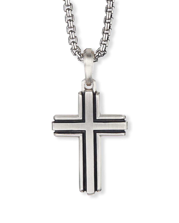 Men's Deco Silver Cross Enhancer