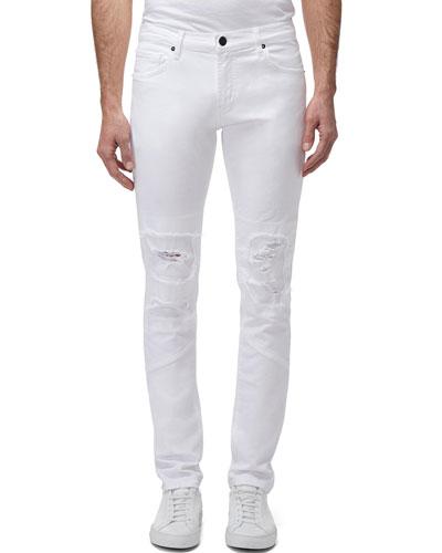 Men's Mayhem Mick Mid-Rise Distressed Skinny Jeans