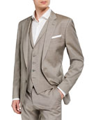 BOSS Men's Slim-Fit Three-Piece Wool Suit