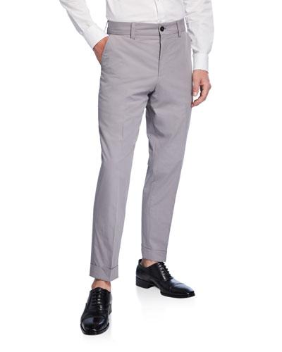 Men's Cotton Slim-Fit Trousers