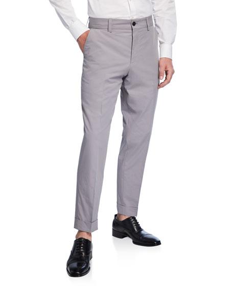BOSS Men's Cotton Slim-Fit Trousers