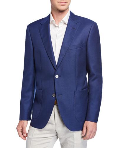 Men's Unlined Wool Sport Coat