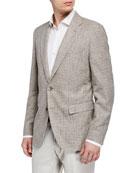BOSS Men's Cotton-Blend Sport Coat w/ Elbow Patches,