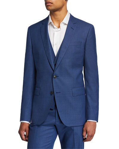 Men's Slim-Fit Three-Piece Wool Suit