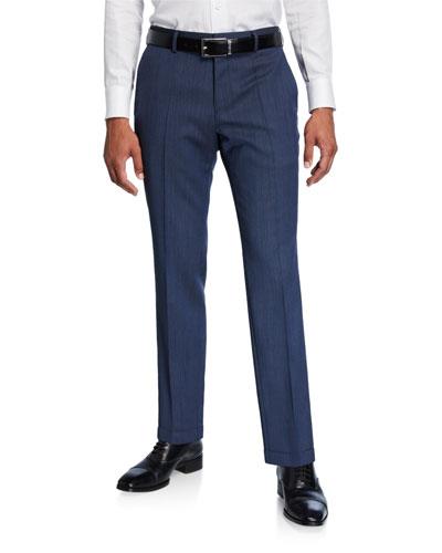 Men's Slim-Fit Wool Pants
