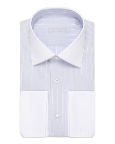 Men's Asti Striped French-Cuff Dress Shirt