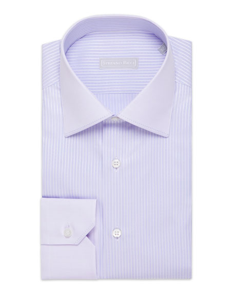 Stefano Ricci Men's Asti Striped Cotton Dress Shirt