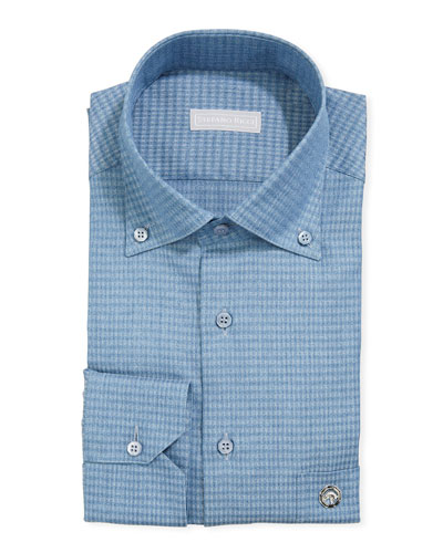 Men's Eagle Denim Gingham Dress Shirt