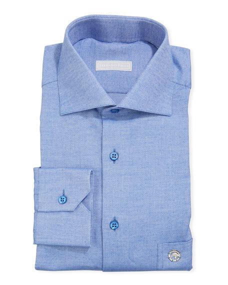 Stefano Ricci Men's Salerno Eagle Cotton Pique Dress Shirt