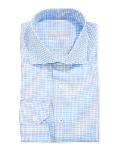 Men's Napoli Gingham Check Dress Shirt