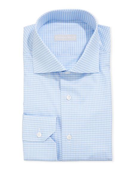 Stefano Ricci Men's Napoli Gingham Check Dress Shirt