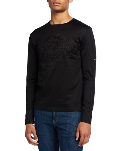 Men's Tonal Eagle Insignia Crewneck T-Shirt