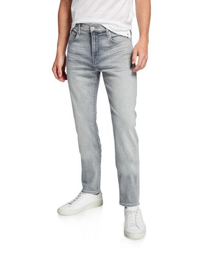 Men's Adrien Gray-Wash Skinny Jeans
