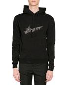 Saint Laurent Men's Star Logo Hoodie Sweatshirt w/