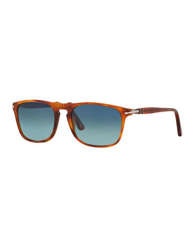 Men's Flat-Top Square Sunglasses - Gradient Polarized