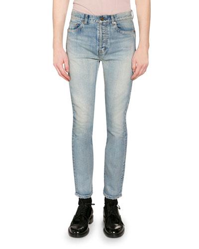 Men's Washed Stretch Denim Jeans