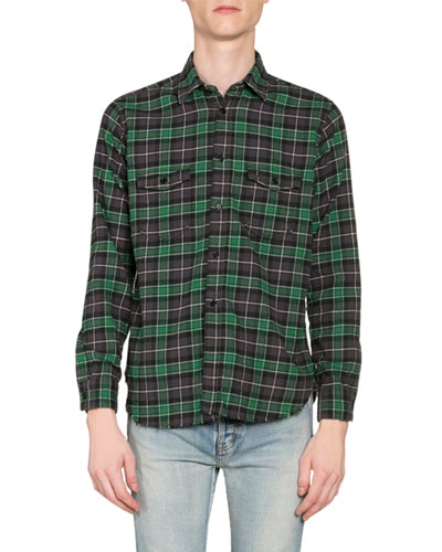 Men's Plaid Oversized Flannel Shirt