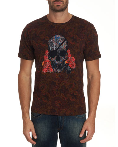 Men's One Eyed Skull Short-Sleeve Graphic T-Shirt