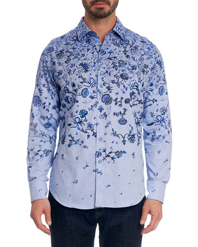 Men's Avo Floral-Print Sport Shirt
