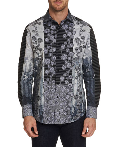 Men's The Kinsey Graphic Floral-Print Sport Shirt