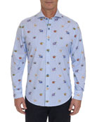 Robert Graham Men's Boom Smack Pattern Sport Shirt