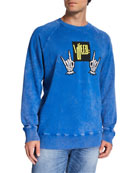 Diesel Men's S Rodd Graphic Logo Raglan-Sleeve Sweater