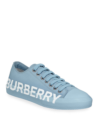 Men's Larkhall Logo-Print Cotton Gabardine Sneakers