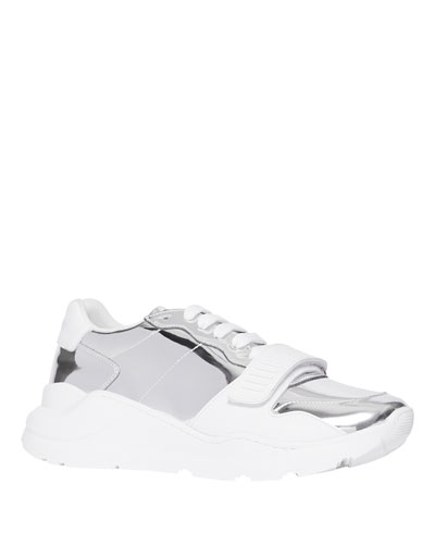 Men's Ramsey Metallic Leather Chunky Sneakers
