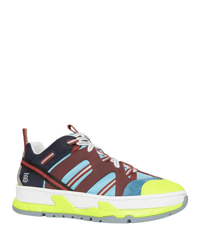 Men's Union Icon Stripe Mixed-Media Sneakers