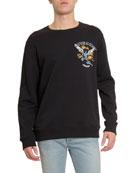 Givenchy Men's Freedom Icarus Print Crewneck Cotton Sweatshirt