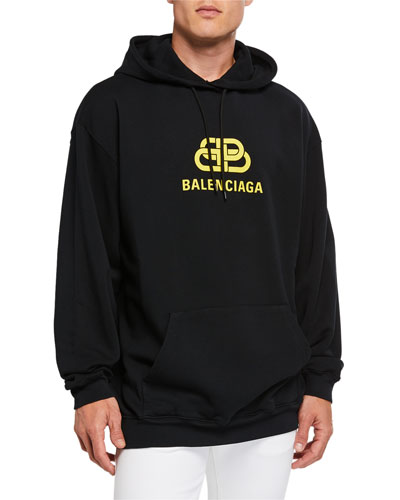 Men's New BB Logo-Graphic Pullover Hoodie