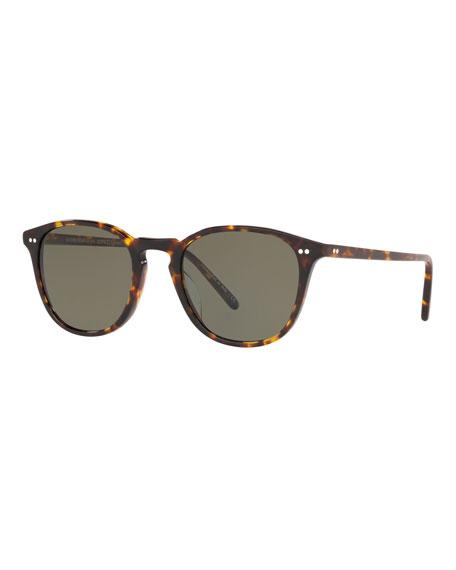 Oliver Peoples Men's Forman L.A. Tortoiseshell Sunglasses