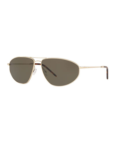 Men's Kallan Angular Aviator Sunglasses