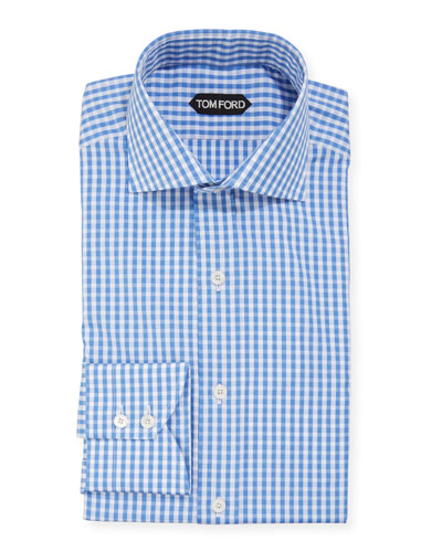 Men's Gingham Dress Shirt