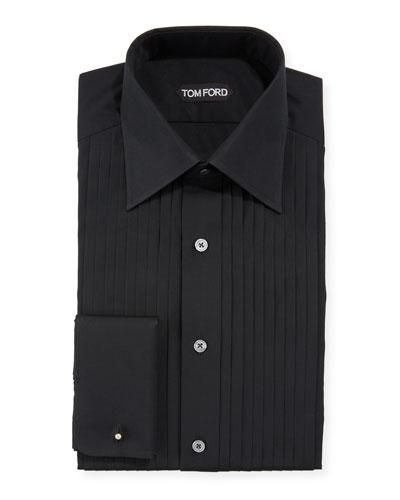 Men's Pleated Bib Tuxedo Shirt