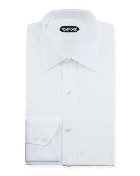 TOM FORD Men's Solid Poplin Dress Shirt