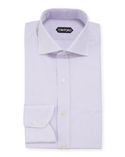 Men's Micro-Check Dress Shirt