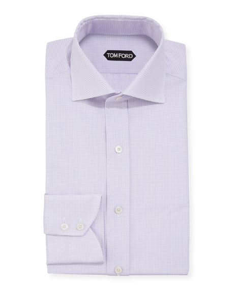 TOM FORD Men's Micro-Check Dress Shirt