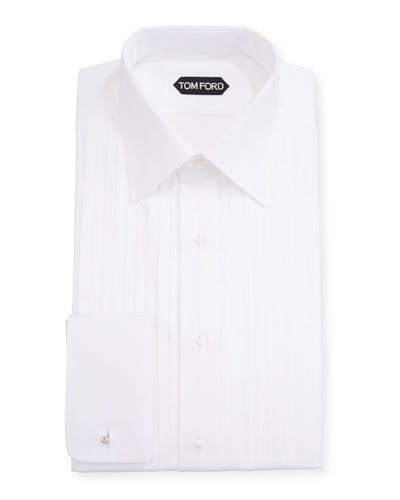 Men's Plisse Formal Dress Shirt