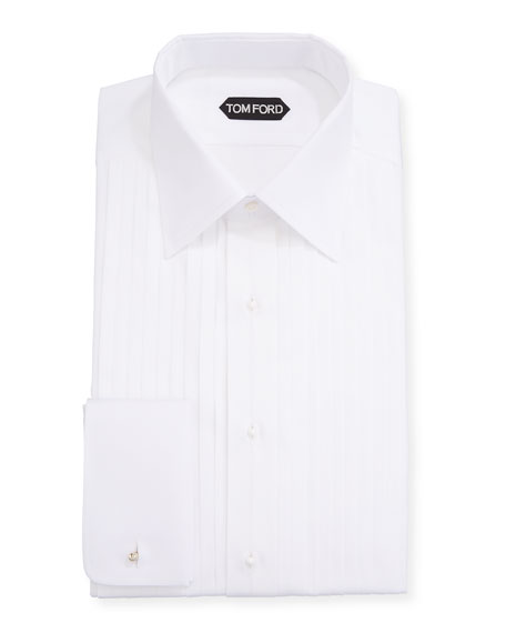 TOM FORD Men's Plisse Formal Dress Shirt