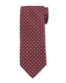 Bigi Men's Small Floral Silk Tie, Red
