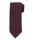 Bigi Men's Small-Dot Silk Grenadine Tie
