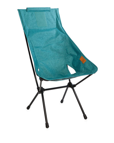 Foldable Outdoor Sunset Chair, Turquoise