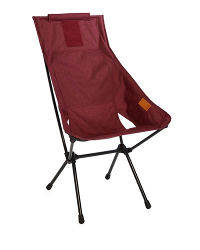 Foldable Outdoor Sunset Chair, Dark Red