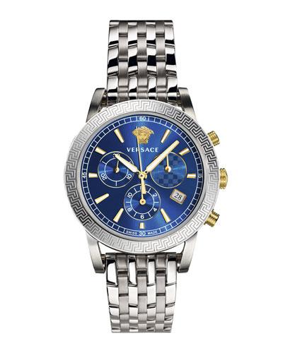 Men's Sport Tech Stainless Steel Chronograph Watch