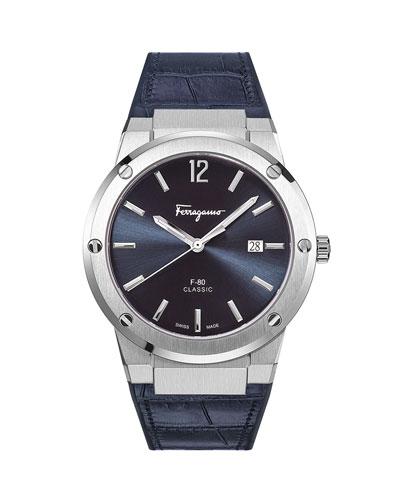 Men's F-80 Slim Leather Watch