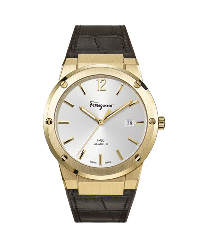 Men's F-80 Leather Watch
