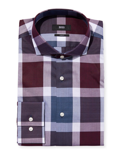 Men's Slim-Fit Check Dress Shirt