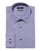 BOSS Men's Slim-Fit Houndstooth Dress Shirt