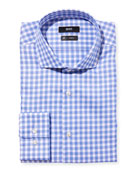 BOSS Men's Slim-Fit Travel Check Dress Shirt, Blue